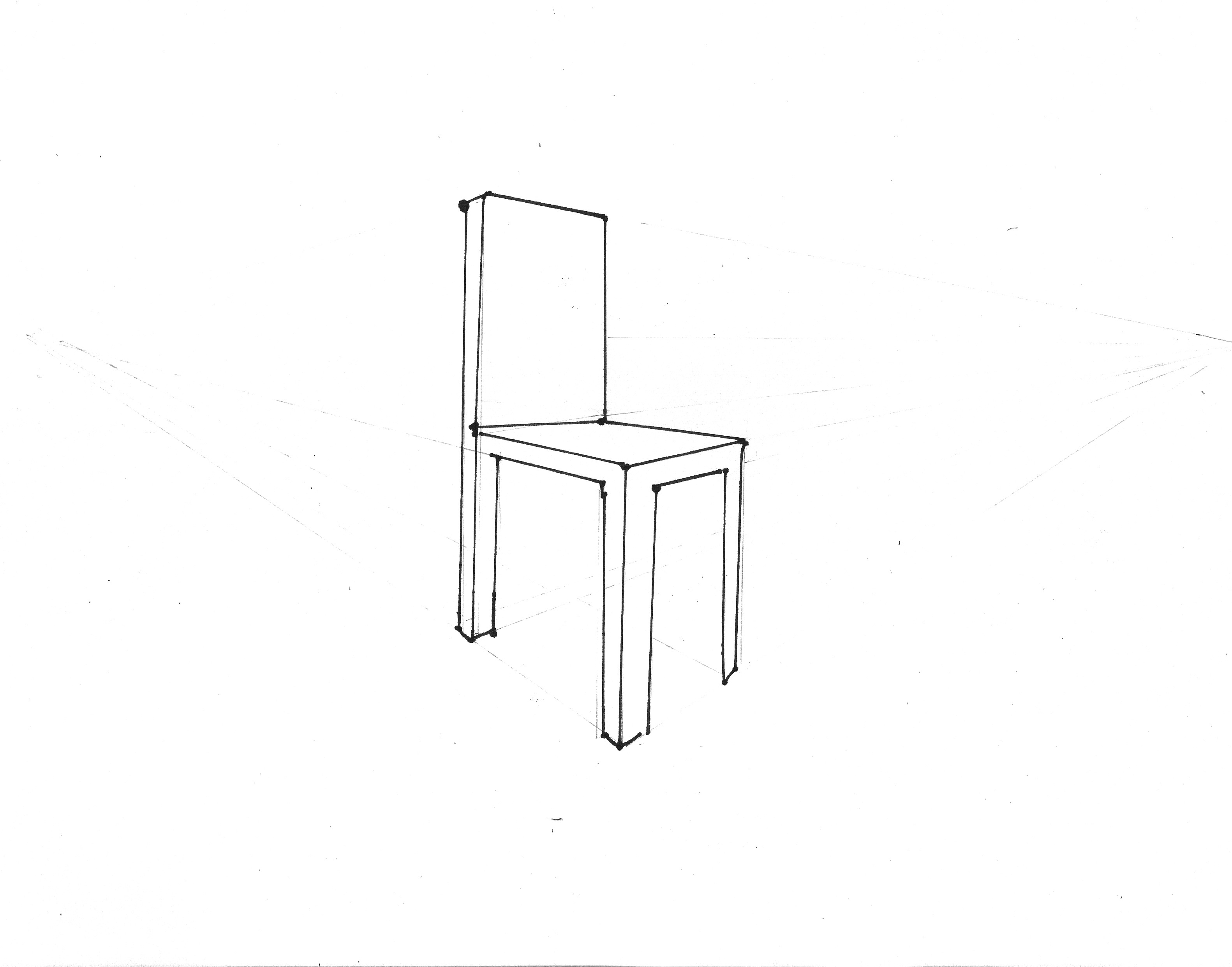 2 point perspective chair
